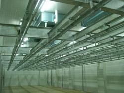 上海爱森肉食品有限公司分割车间冷库内景