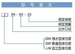 QW、GW、LW型无堵塞排污泵