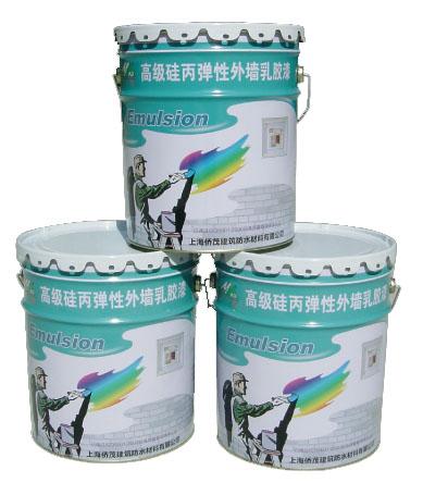 高级硅外丙墙弹无性色外防墙水乳剂胶漆