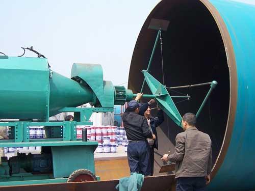 PJJ3600噴漿機現場噴涂圖片