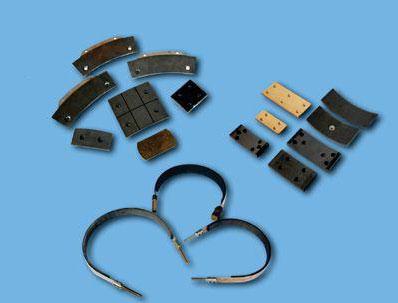 电梯、自动扶梯制动闸瓦,制动带总成,夹绳器摩擦片