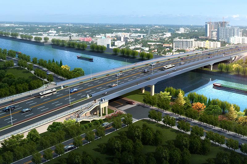 苏州狮山桥拓宽工程