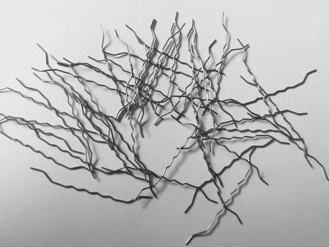 中间波纹两端带钩钢纤维-多锚点钢纤维