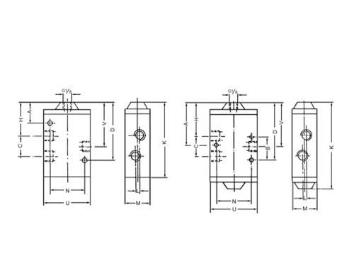 40200系列二位三通氣控換向閥