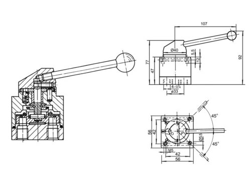 Q34SR2-L8三位四通手动转阀