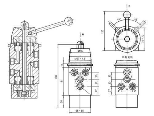 SLHS-8/3-1/4三位八通手動轉閥