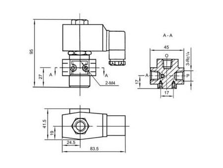 QY23D-2K二位三通电磁阀