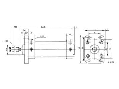 QGA、QGB双作用普通气缸系列