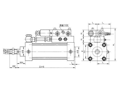 QGFA、QGFB带阀组合气缸系列