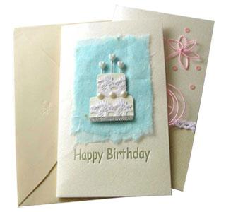 棉纸装饰生日卡 H-L3型
