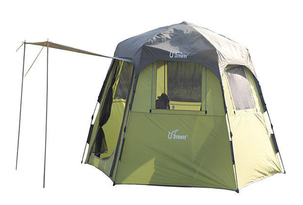 Automatic hexagonal multi-person tent