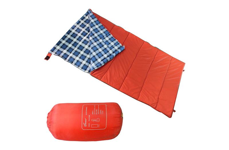 珂玛特户外加大加宽信封法兰绒三季睡袋露营休闲午休盖毯防水便携