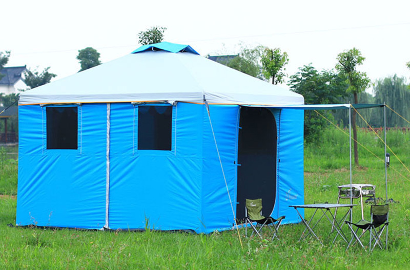 Extra-large outdoor activities, awning, awning, square-roofed pavilion, camping, leisure and rainpro