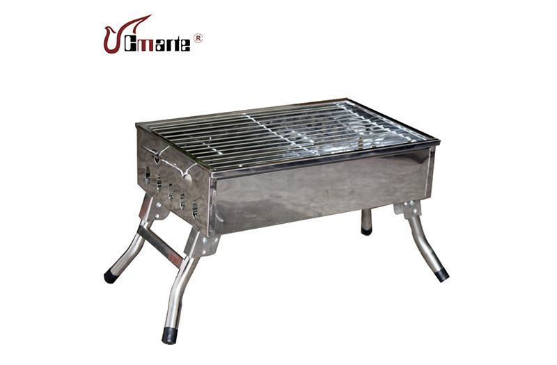 戶外4-5人不銹鋼燒烤爐烤架BBQ加厚家用特價正品包郵便攜碳烤爐