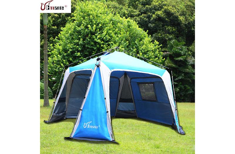 戶外自動超大防紫外線遮陽篷休閑露營免搭建快開帳篷多人雙層包郵