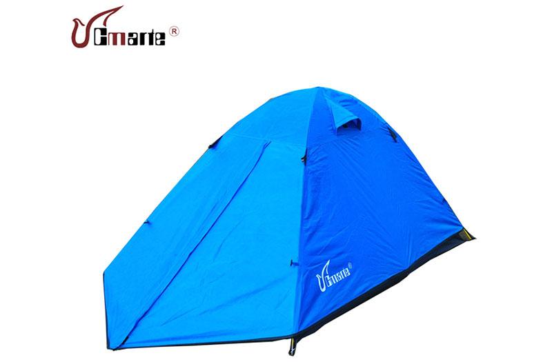 戶外單人雙層防風防雨三季露營帳篷超輕便攜野營帳篷包郵正品特價