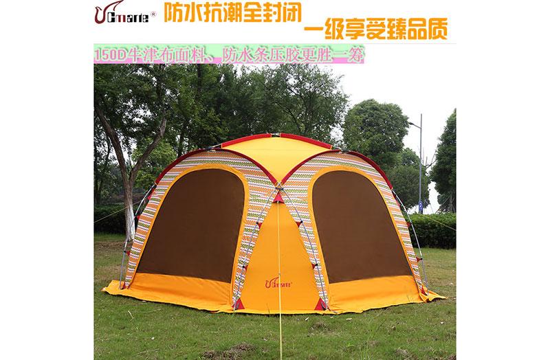 珂瑪特戶外超大遮陽棚雨棚防紫外線天幕休閑車篷廣告篷6-10人正品