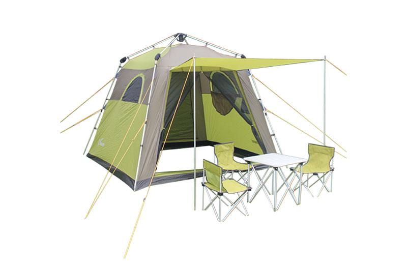 正品珂瑪特鋁合金自動帳篷戶外3-4人免搭建野營休閑帳篷