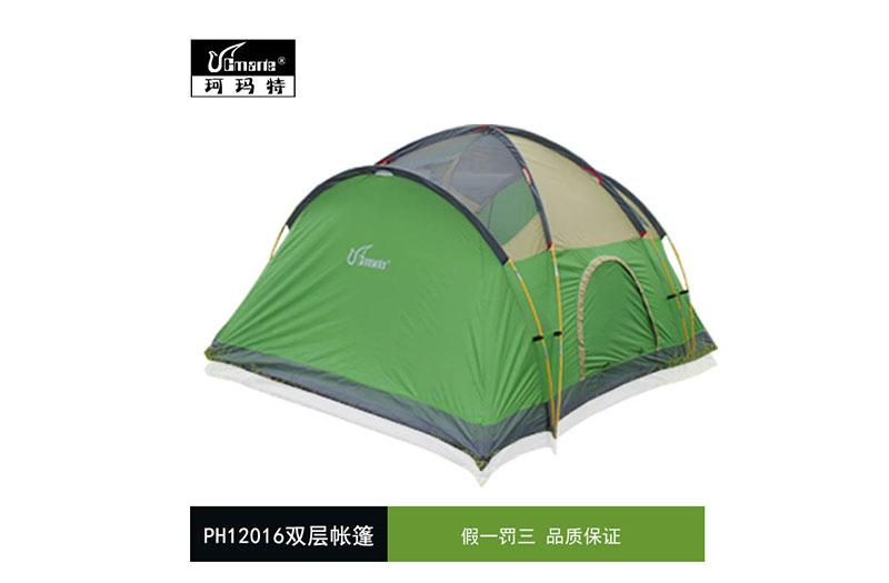 正品珂瑪特 防暴雨帳篷 戶外多人野營家庭休閑帳篷 4-5人雙層帳篷
