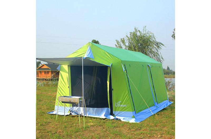 戶外超大營地帳篷多人露營休閑遮陽活動防暴雨自駕游雙層蒙古帳篷