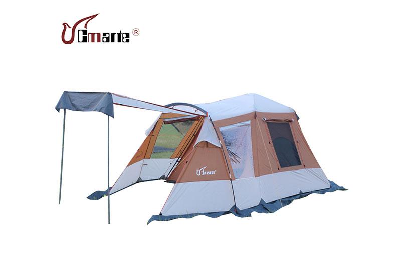 珂瑪特戶外雙層自動免搭建多人帳篷 四季帳 帶雪裙 4-5人露營帳篷