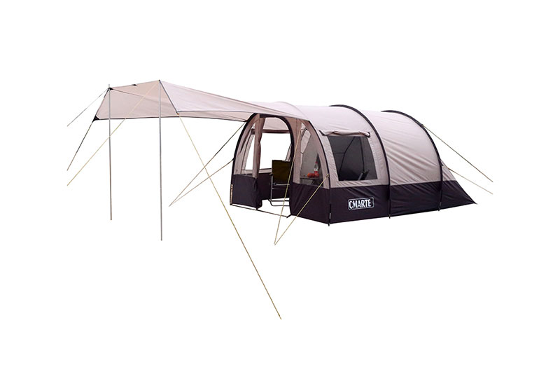 珂瑪特 一帳多用夏季通風4人帳篷大空間雙層透氣窗抗風防雨遮陽
