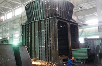 立磨选粉机-磨与选粉机组装