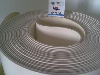 食品专用平皮带材质为白色橡胶、片基层