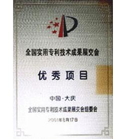 全國實用專利技術成果展交會優秀項目