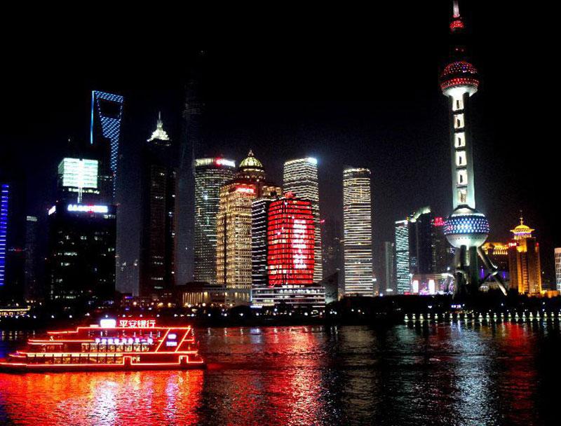 中国金融信息中心(对岸江景视角)