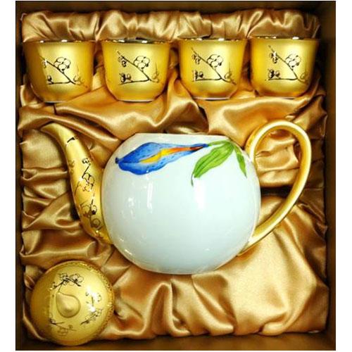 镀金茶壶套装系列DGK-008-盒