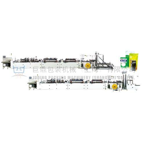 JDM600-LSJZ系列全自动三边封、自立袋、连体自立袋、拉链袋制袋机
