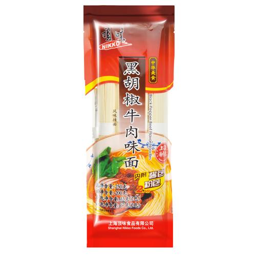 黑胡椒牛肉味面(风味挂面)