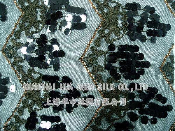 串片绣工艺围巾