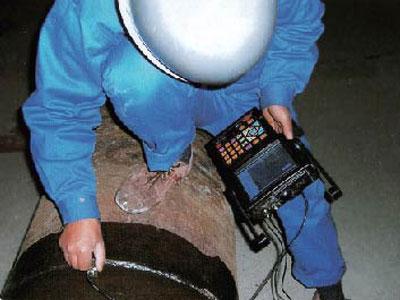超声波对现场焊缝进行检测