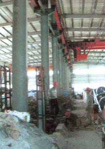 大面积堆载引起的柱基下沉进行柱基补桩加固