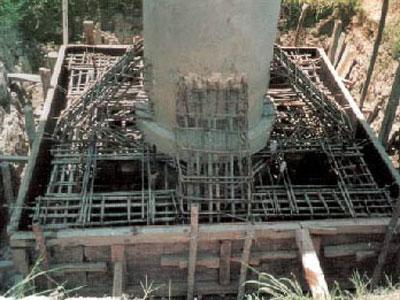 压桩承台经植筋后形成的钢筋笼示意图