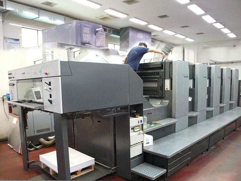 海德堡5色胶印机