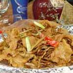鲜茶树菇爆猪颈肉