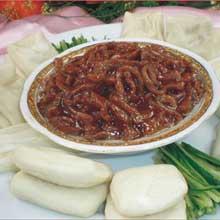 京酱羊肉丝夹饼