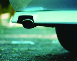 Vehicle exhaust detection gases