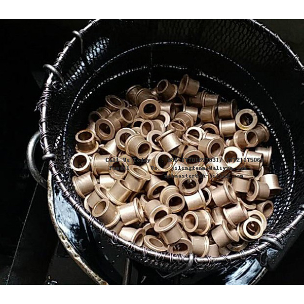 自润滑轴承粉末冶金带肩铜套