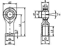 自润滑内螺纹C系列杆端关节轴承