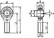自润滑外螺纹C系列杆端关节轴承