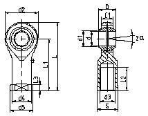 内螺纹E系列杆端关节轴承