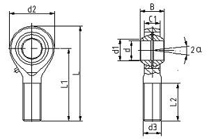 外螺纹E系列杆端关节轴承