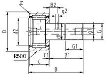螺栓型滚轮滚针轴承(重载滚子型)