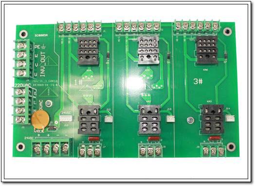 704络筒机1-3转接板(配CMOS一控二板)