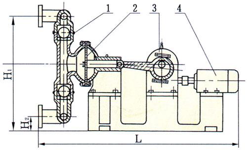 DBY型电动隔膜泵结构说明