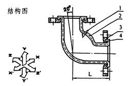 WGD型可曲挠橡胶接头结构图